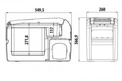 Wymiary lodówki samochodowej Waeco CF16