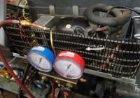 Uzupełnienie gazu w lodówce TIR