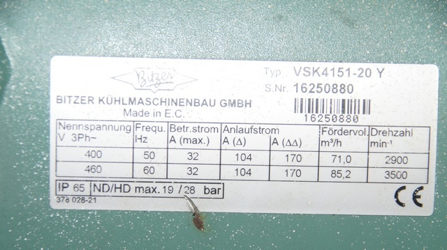 sprężarki śrubowe Bitzer VSK 4151-20Y-40P