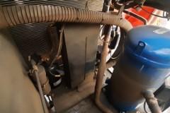 Uszkodzony compresor serwis chiller KKT