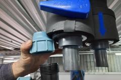 Woda lodowa instalacja - rury plastikowe