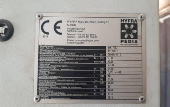 Serwis chiller HYFRA SVK720
